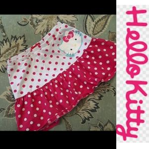 size 6X Hello Kitty pink and white skirt